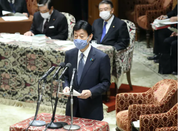 Minister of Finance Nishimura reports to the Diet