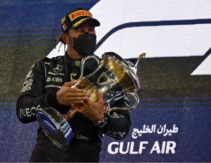 Verstappen let Hamilton pass him to victory.