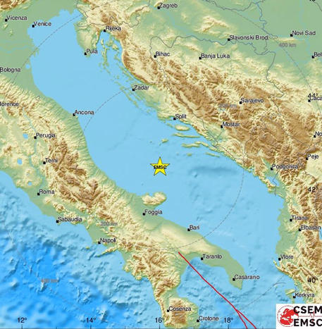 Earthquake: seismic swarm in the Adriatic, the strongest quake 5.6.