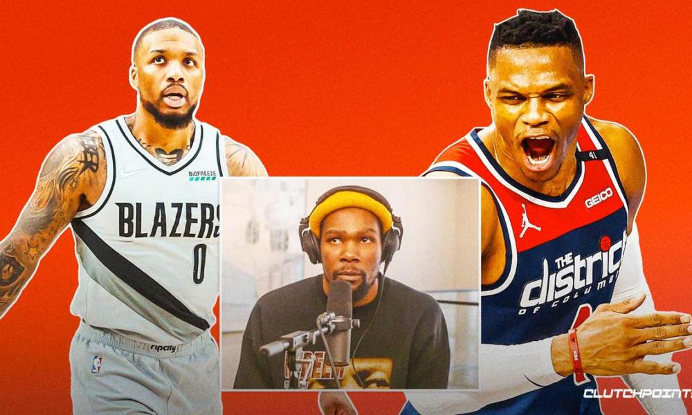 Russell Westbrook Damian Lillard Kevin Durant Blazers Nets