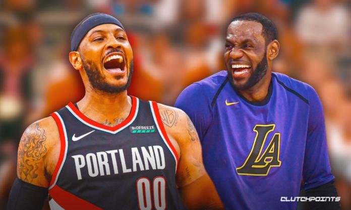 Carmelo Kiyan Anthony LeBron James Blazers Lakers