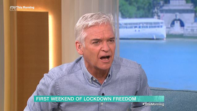 Phillip Schofield slams Covid scaremongers in row with Matthew Wright
