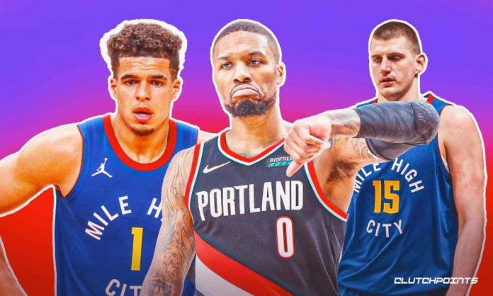 Nuggets, Blazers, NBA, Nikola Jokic, Damian Lillard, Michael Porter Jr.