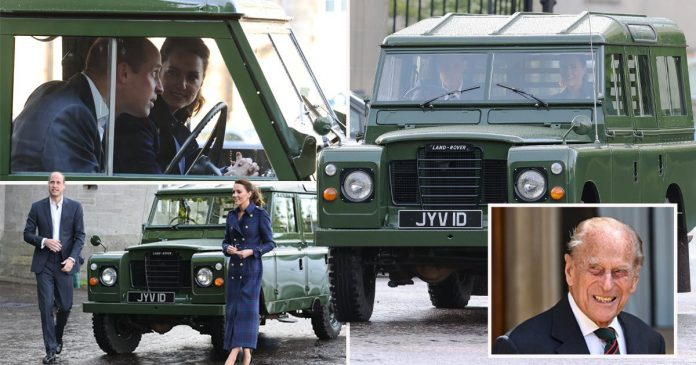 Kate and William take Prince Philip's Land Rover to drive-in cinema