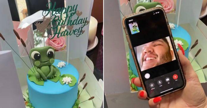 Katie Price shares Harvey's pure joy at frog-themed birthday cake