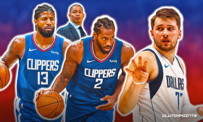 Kawhi Leonard, Paul George, Luka Doncic, Tyronn Lue, Clippers, Mavs