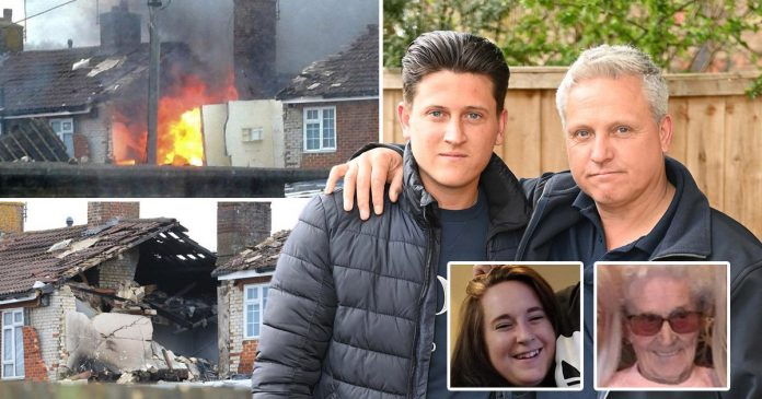 Kent gas explosion: Hero dad and son rescue three from burning house