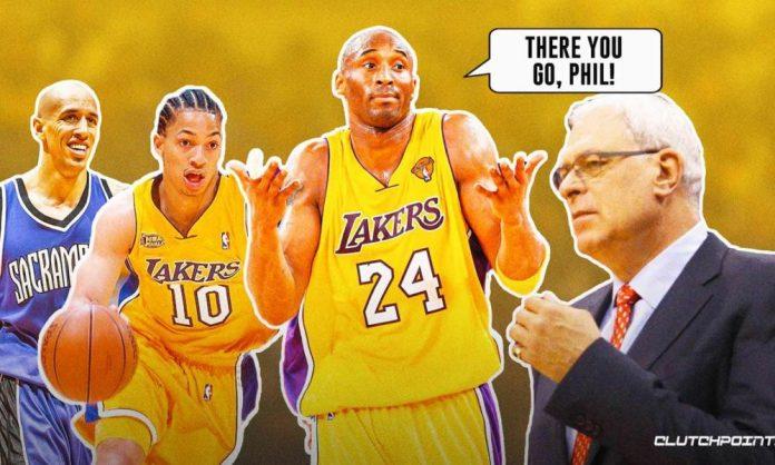 Kobe Bryant, Phil Jackson, Lakers, Tyronn Lue, Doug Christie, Kings
