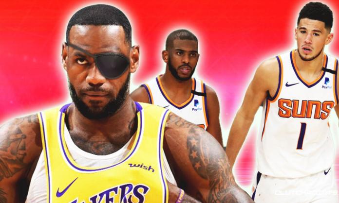 LeBron James leg eye injury status Lakers Suns