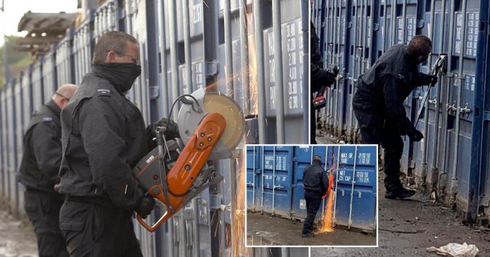 London: Drugs, guns and cash found in raid on 200 shipping containers