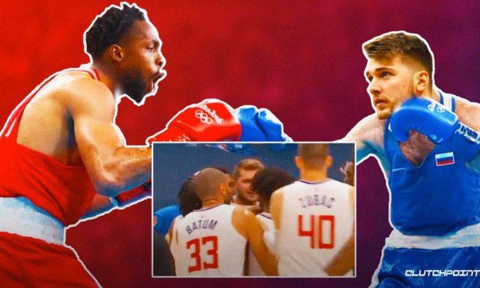 Luka Doncic, Patrick Beverley, Clippers, Mavericks, Mavs, NBA, Game 3