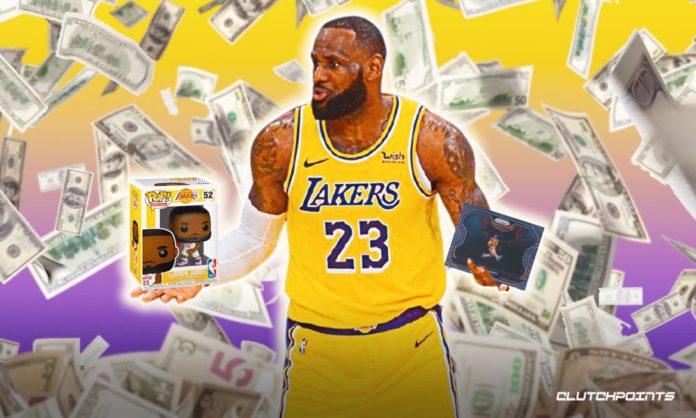 NBA Cards, Lakers, LeBron James, Funko