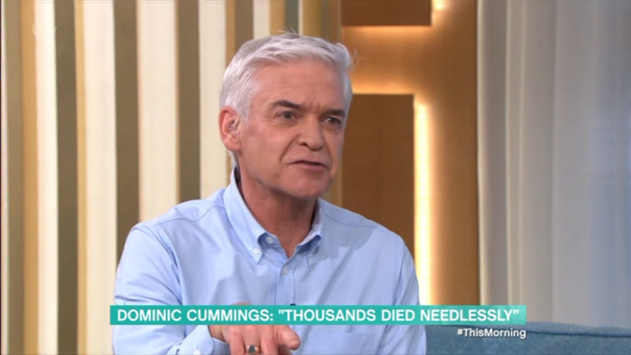 Phillip Schofield lashes out at 'dishonest' Dominic Cummings