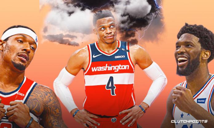 Russell Westbrook Wizards Sixers Game 1 Joel Embiid Bradley Beal