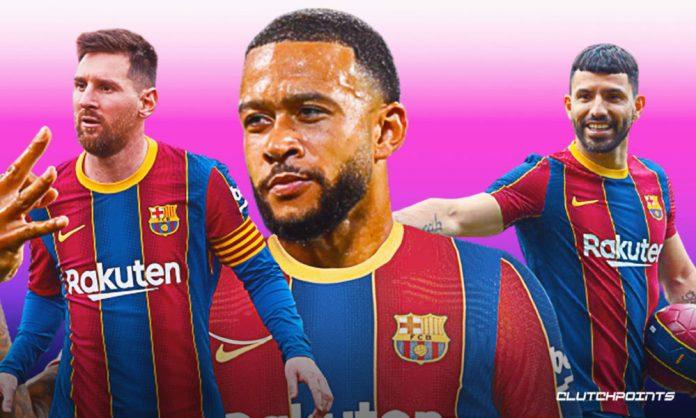 Barcelona, Memphis Depay, Lionel Messi, Sergio Aguero