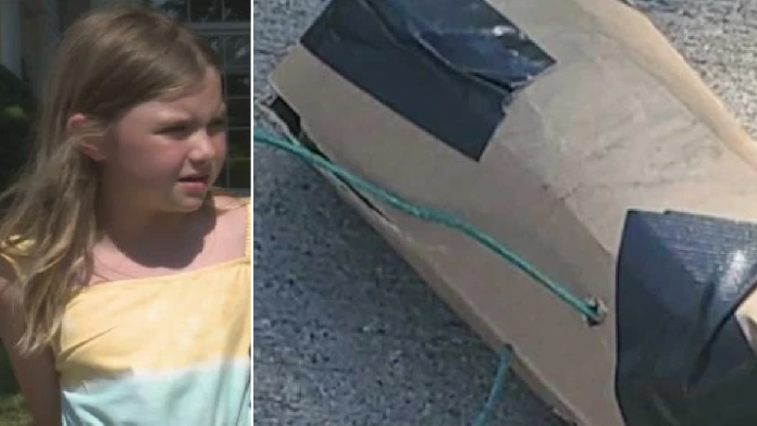 Girl, 8, finds bomb in the middle of the street while playing outside