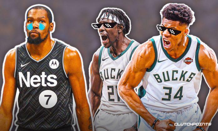 Kevin Durant, Nets, Bucks, Giannis Antetokounmpo, Jrue Holiday