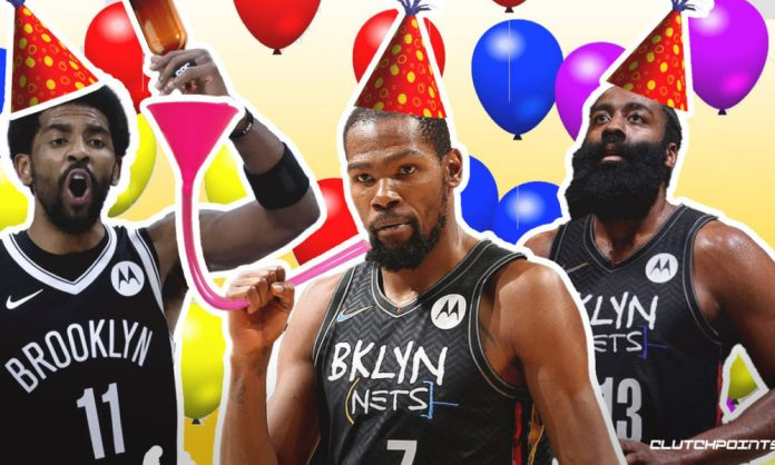 James Harden, Kevin Durant, Kyrie Irving, Nets