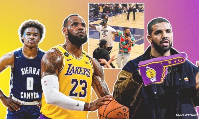 LeBron James Bronny James Drake Lakers
