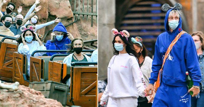 Megan Fox and Machine Gun Kelly on PG Disneyland date after PDAs