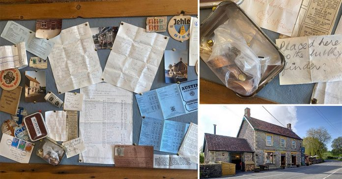 Pub owner finds 50-year-old time capsule hidden in wall