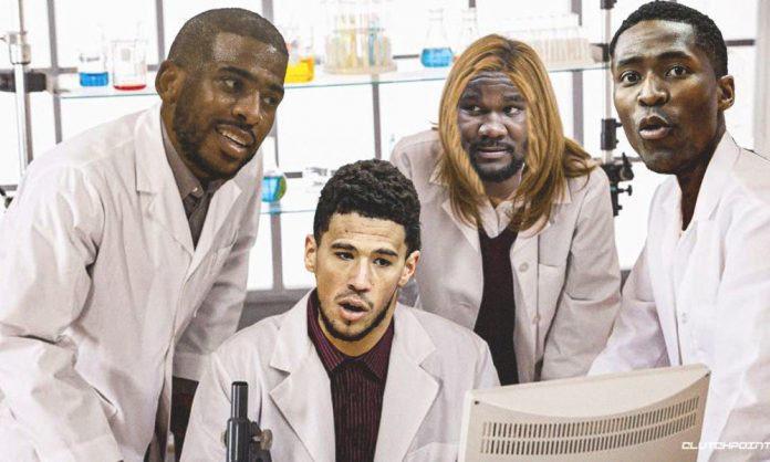 Devin Booker, Chris Paul. DeAndre Ayton, Jamal Crawford, Suns