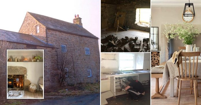 Couple transform 'run-down, unliveable' 500-year-old cottage into perfect home