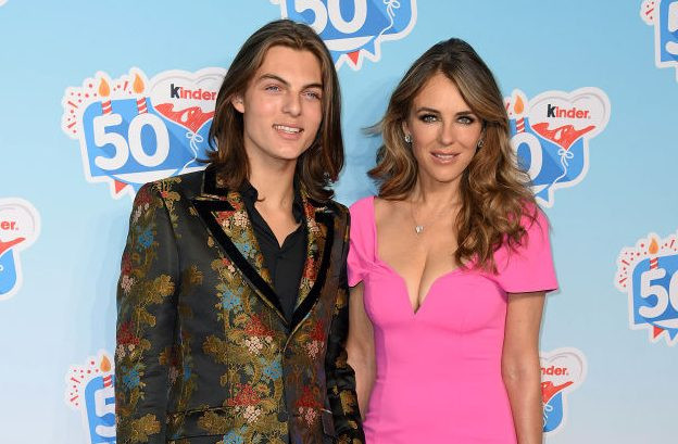 Liz Hurley's son praises family as he is cut from grandfather's trust
