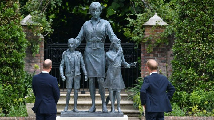Princess Harry And William Reunite To Unveil Late Mother Diana Statue
