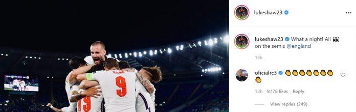 Roberto Carlos sends message to Luke Shaw following sensational England performance